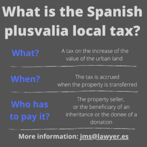 What is the Spainish plusvalia tax?